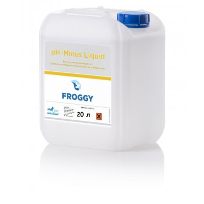 PH минус  жидкий 20 л PH- Minus Liquid HA FROGGY (соляная кислота 10%)
